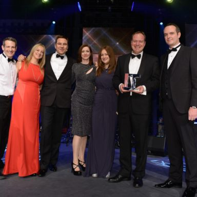 Alan Boswell team being presented with Broker of the Year Award