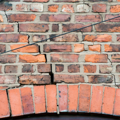 Building with subsidence